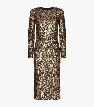 Dolce & Gabbana Sequin Leopard Print Dress