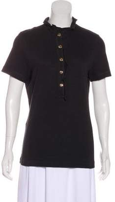 Tory Burch Ruffled Short Sleeve Top