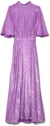 ATTICO Full Sequins Dress in Purple