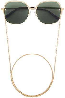 Stella McCartney Eyewear square sunglasses with chain