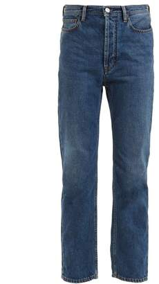 Acne Studios Blå Konst Log low-rise kick-flare jeans