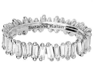 Suzanne Kalan White Diamond Baguette Eternity Ring - White Gold