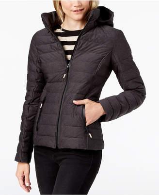 Nautica Hooded Contrast-Trim Packable Puffer Coat