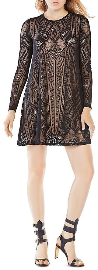 BCBGMAXAZRIABCBGMAXAZRIA Geometric Lace Dress