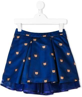 Moschino Kids TEEN teddy bear print skirt
