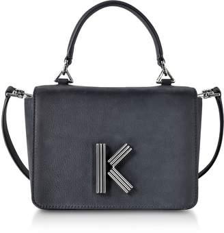 Kenzo Anthracite Medium Nabuk and Leather Crossbody K-Bag