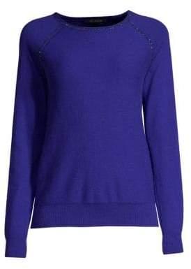 St. John Crystal Embellished Cashmere Sweater