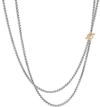 David Yurman Sterling Silver & 14K Yellow Gold Bel Aire Long Chain Necklace, 41""