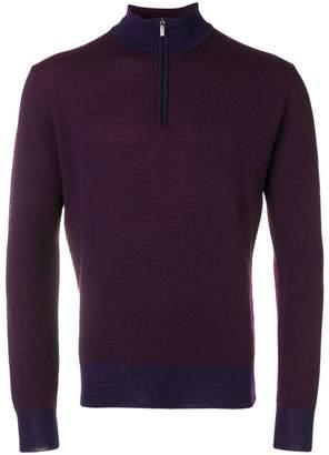 Canali zipped long-sleeve sweater