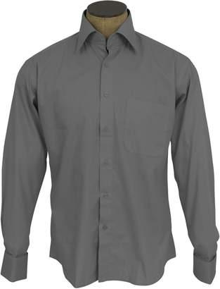 Sunrise Outlet Men's Cotton Blend French Cuff Dress Shirts - 18.5 36-37