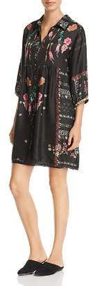 Johnny Was Agalia Embroidered Silk Dress