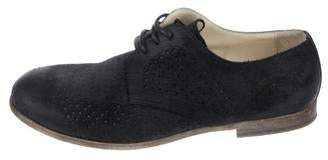 Dolce & Gabbana Perforated Suede Derby Shoes