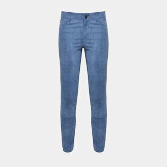 Theory Five-Pocket Stretch Suede Pant