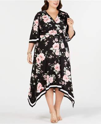 1a3792daaf0 INC International Concepts I.n.c. Plus Size Floral Kimono Midi Dress