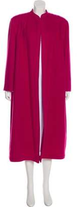 Valentino Long Woven Coat Pink Long Woven Coat
