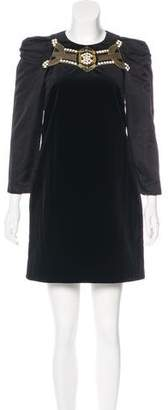 Gucci Embellished Mini Dress
