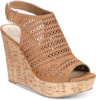 American Rag Charlize Perforated Platform Wedge Sandals