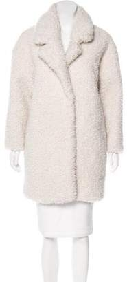 Gerard Darel Cristabelle Faux Fur Coat