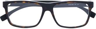 HUGO BOSS rectangular frame glasses