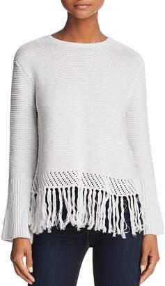 Aqua Fringe-Hem Sweater - 100% Exclusive
