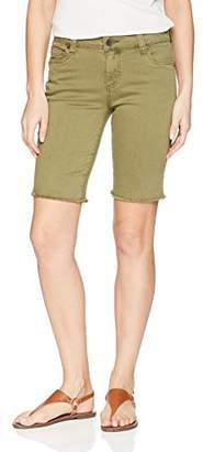 KUT from the Kloth Women's Natalie Bermuda Short With Frayed Hem