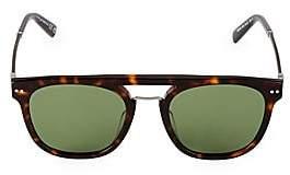 Web Men's 51MM Round Flat-Top Sunglasses
