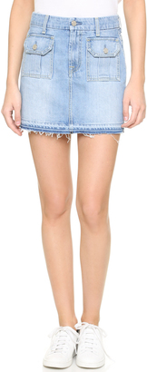 7 For All Mankind Utility Pocket Miniskirt $168 thestylecure.com