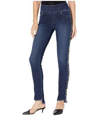 Lisette L Montreal Betty Denim Slim Jean with Leopard Side Stripe