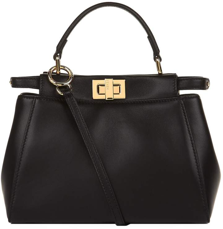 Fendi Mini Peekaboo Leather Bag