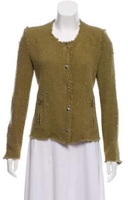 IRO Distressed Tweed Jacket