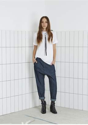 THE FIFTH BURNING COLOUR PANT dark chambray