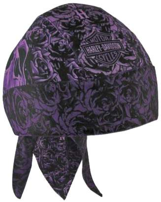 Harley-Davidson Women's Rebel Rider Roses Headwrap, & Black HW27269