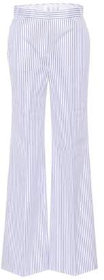 Victoria Beckham Victoria Striped cotton wide-leg trousers