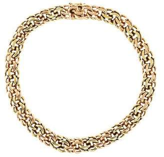 14K Two-Tone Double Chain-Link Collar Necklace