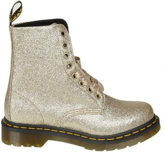 Dr. Martens pascal Boots In Gold Glittered Leather