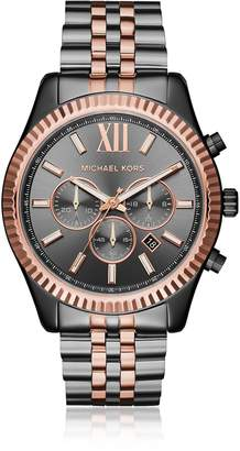 Michael Kors Lexington Two Tone Chronograph Men's Watch