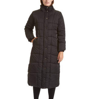 Excelled Leather Excelled Faux-Fur Trim Long Puffer Jacket