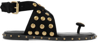 Isabel Marant Jangee Studded Suede Sandals - Black