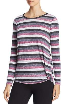 Andrew Marc Striped Long-Sleeve Tee