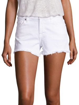 7 For All Mankind Cut-Off Denim Shorts $139 thestylecure.com