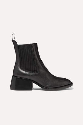 Chloé Bea Glossed-leather Chelsea Boots - Black