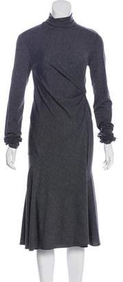 Brunello Cucinelli Wool Long Sleeve Dress