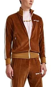 Palm Angels Men's Logo Velour Track Jacket - Camel