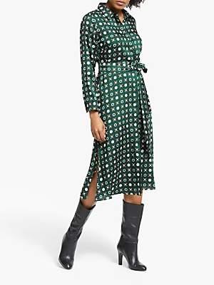 Marella Ismaele Satin Dress, Green