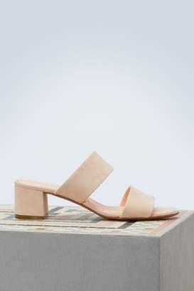 Mansur Gavriel Suede leather sandals