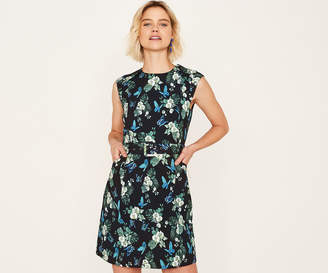 Oasis SHORT ORCHID PRINT SHIFT DRESS