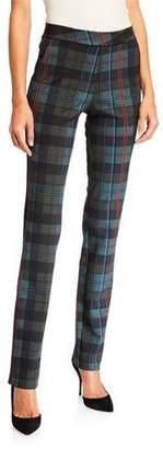 Chiara Boni Petronilla Plaid Skinny Pants