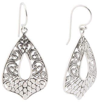 Made In Bali Sterling Silver Filigree Earrings