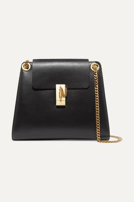 Chloé Annie Leather Shoulder Bag - Black