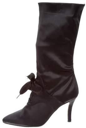 Walter Steiger Satin Mid-Calf Boots 2014 new cheap price newest cheap online lPiLDMGK